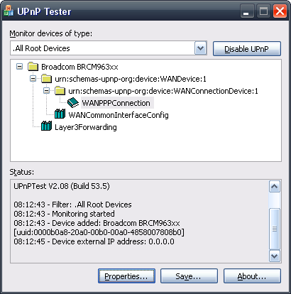 UPnP Diagnostic