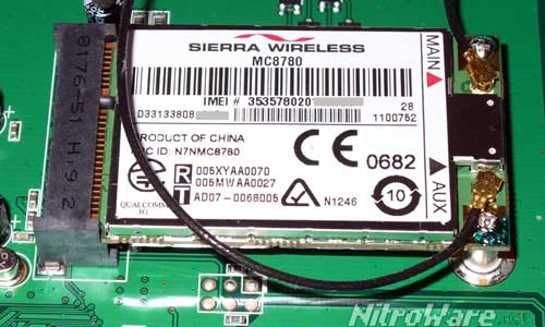 Sierra Wireless MC8780 3G Modem in the Mini PCI Express form factor