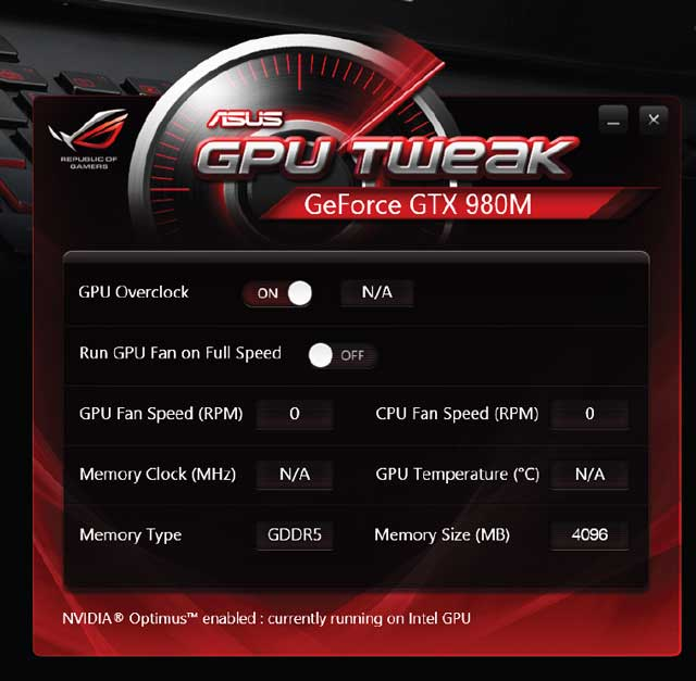 asus rog notebook gpu tweak
