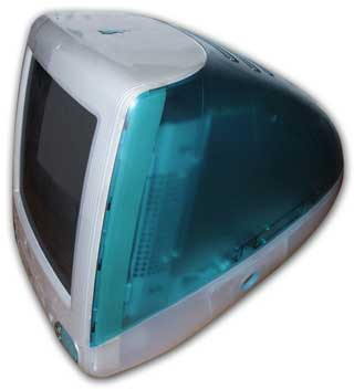 1998 Apple iMac G3 - The Ethernet Port is located behind the port door. Photo courtesy of Wikipedia