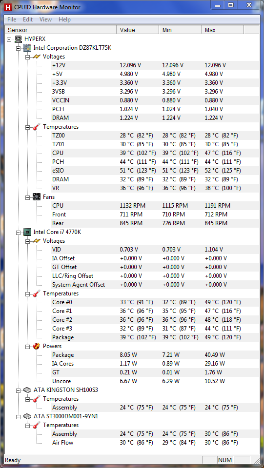 Haswell i7-4770k idle temp