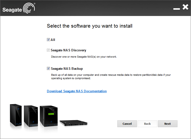 Seagate Business NAS software
